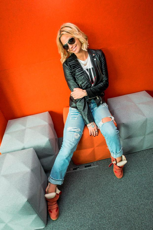 Friday 31 July 2015. Sarah Harding interview with Chris Wasser at Sony Dublin HQ, Ballsbridge.