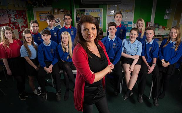 Goedele Liekens and her Sex in Class pupils, who took a two week course Photo: Handout/Channel 4