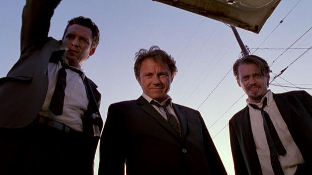Michael Madsen, Harvey Keital and Steve Buscemi in Reservoir Dogs