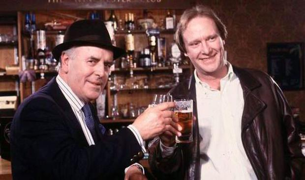 George Cole and Dennis Waterman in Minder