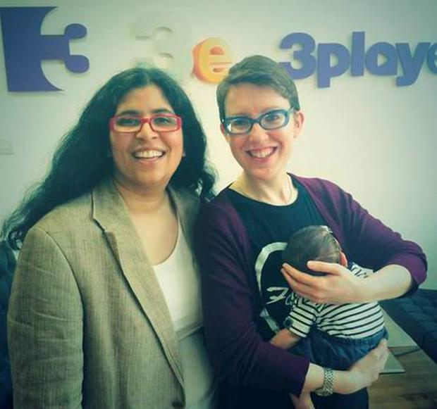 Dil Wickremasinghe and partner Anne Marie O'Toole with baby Phoenix