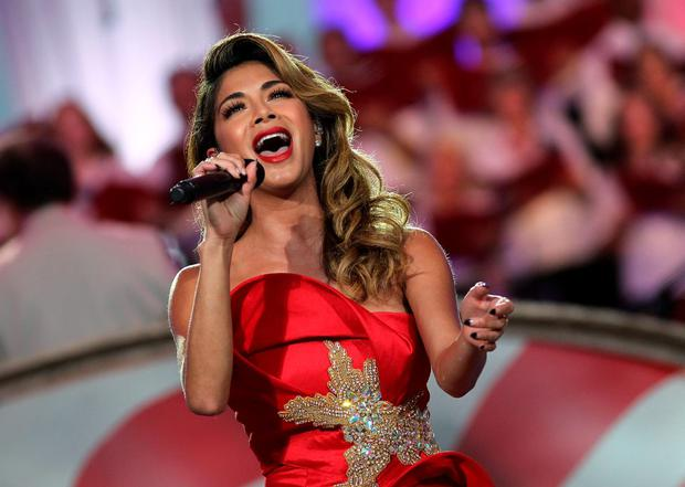 Singer, songwriter, and actress Nicole Scherzinger performs at A Capitol Fourth 2015 Independence Day Concert dress rehearsals on July 3, 2015 in Washington, DC. (Photo by Paul Morigi/Getty Images for Capitol Concerts)
