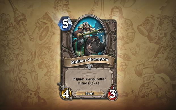 Hearthstone - Mukla's Champion - A lower cost option for that Stormwind Champion effect