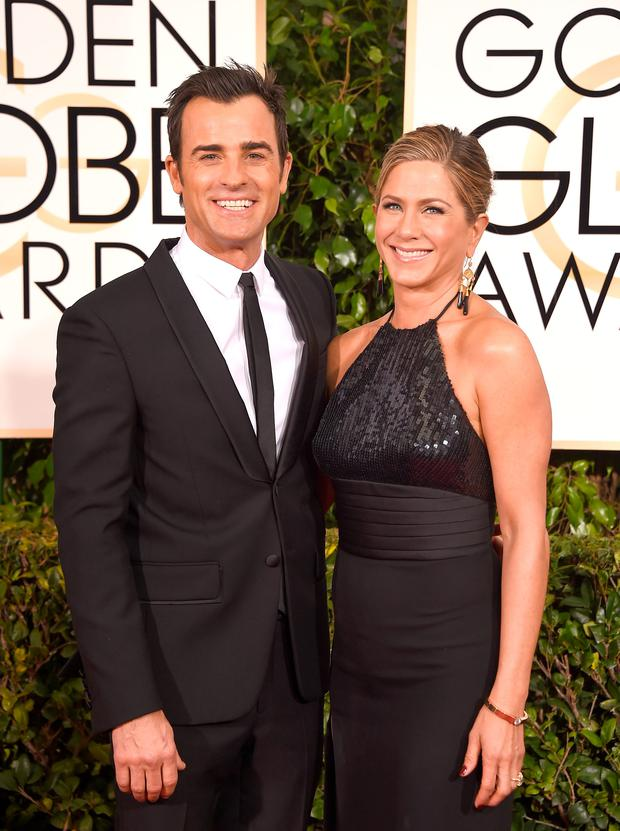 August 2008. Jennifer Aniston and Justin Theroux. (Photo by Jason Merritt/Getty Images)