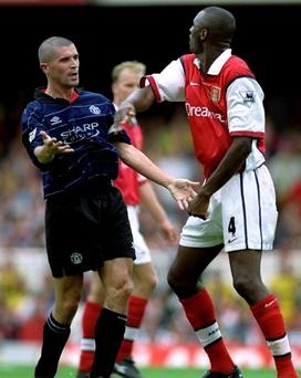Roy Keane and Patrick Vieira clash
