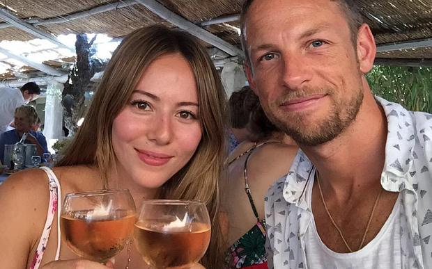 Jenson Button and his wife Jessica lay unconscious as burglars using gas broke into their room and took her £250,000 engagement ring. Photo: Twitter