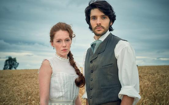 Colin Morgan and Charlotte Spencer in The Living and the Dead