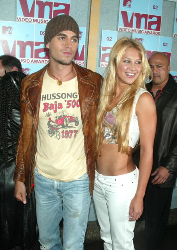 Enrique Iglesias and Anna Kournikova in 2002