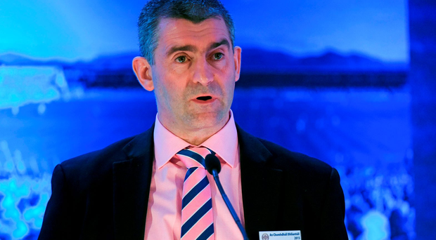 Liam Sheedy, Chairman of the Hurling 2020 Committee, speaking at the GAA Annual Congress 2015