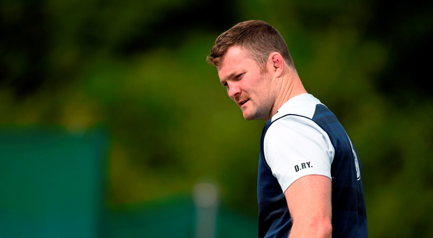 Donnacha Ryan in action during squad prior to today's game against Wales