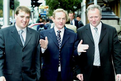 Enda Kenny leads the way with Dr Liam Twomey (right) and Paul Kehoe (left) in 2004