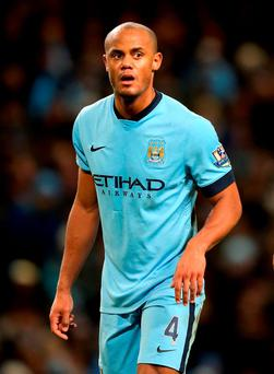 Manchester City captain, Vincent Kompany, has the support of Pellgrini despite his muted form last season