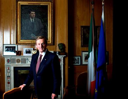 NOT LOVED BY ALL: Taoiseach Enda Kenny's personal popularity took a nosedive in a recent poll, dropping seven points to 25pc Photo by David Conachy