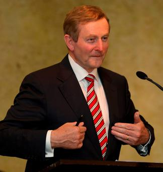 CHARM OFFENSIVE: Enda Kenny out to woo pensioners
