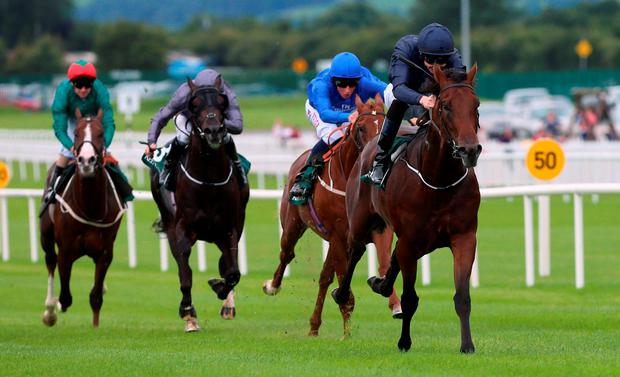 Air Force Blue, under Joseph O'Brien, sprints clear of the field at the Curragh