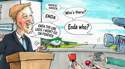 'The well-meaning deputy's comment that Enda Kenny is as durable as a Duracell bunny serves no political purpose. It does, however, give an insight into the way those close to the Taoiseach are thinking'