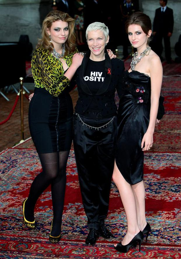 Lola, Annie and Tali Lennox attend the Dolce & Gabbana