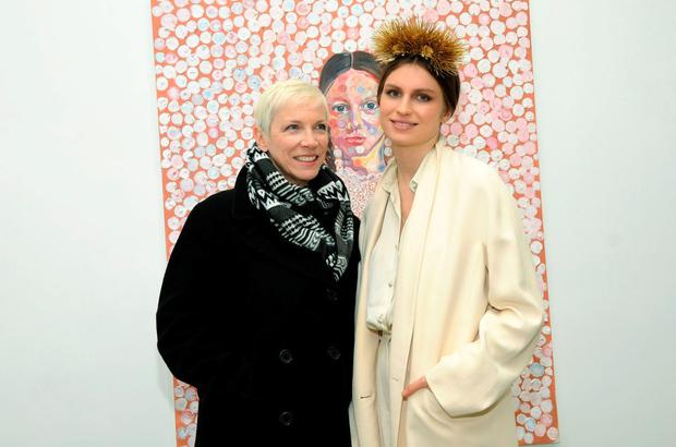 Singer Annie Lennox (L) and artist Tali Lennox attend Tali Lennox Exhibition Opening Reception at Catherine Ahnell Gallery on March 18, 2015 in New York City. (Photo by Desiree Navarro/WireImage)