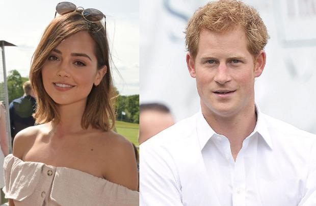 Jenna Coleman (left) and Prince Harry (right)