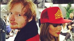 Ed Sheeran and Nicole Scherzinger