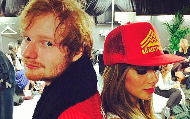Ed Sheeran and Nicole Scherzinger Photo: Instagram/@nicolescherzy