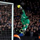 Manchester United goalkeeper David de Gea illustrates his athleticism