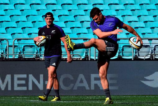 'Long-serving fly-half Dan Carter (r), usually beyond all reproach, has come in for criticism for misfiring in Sydney'