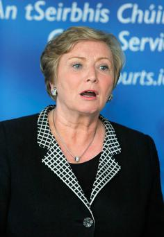 Justice Minister Frances Fitzgerald of Fine Gael: Out of 166 TDs in the Dail only 26 are women.