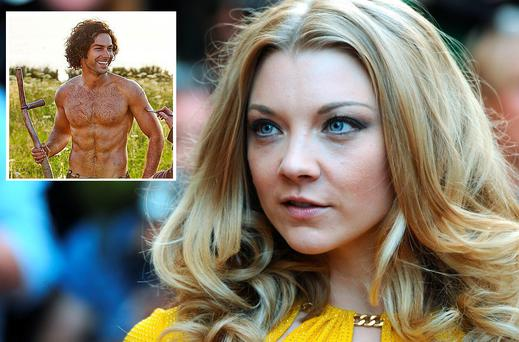 Natalie Dormer and Aidan Turner (inset)