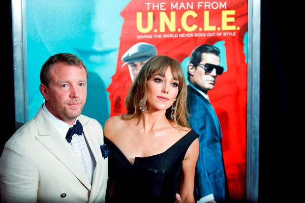 Film director Guy Ritchie (L) and Jacqui Ainsley attend the premiere of