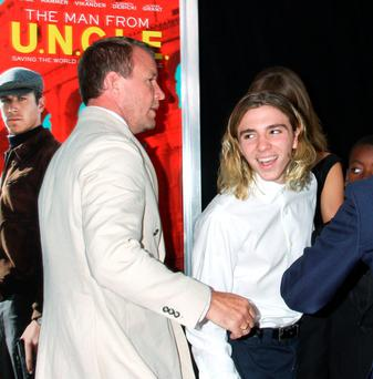 Guy Ritchie and Rocco Ritchie attend