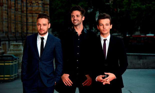 Louis Tomlinson, Ben Haenow and Liam Payne attend the Believe in Magic Cinderella Ball at Natural History Museum on August 10, 2015 in London, England. (Photo by Stuart C. Wilson/Getty Images)