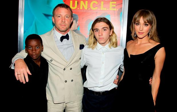David Ciccone Ritchie, Guy Ritchie, Rocco Ritchie and Jacqui Ainsley 'The Man from U.N.C.L.E.' film premiere. Picture: Startraks Photo/REX Shutterstock