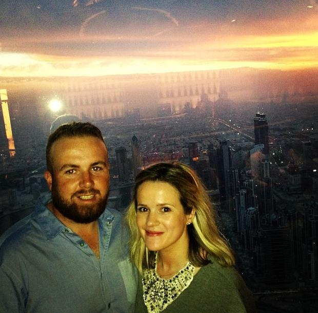 Shane Lowry and fiancee Wendy Honner. Picture: Instagram