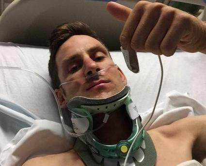 Irish cyclist Matt Brammeier is recovering in hospital