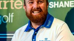 Irish golfer Shane Lowry is pictured at the announcement of a commercial partnership between himself and Kartel, the Irish manufacturer of high quality golf clothing and leisurewear