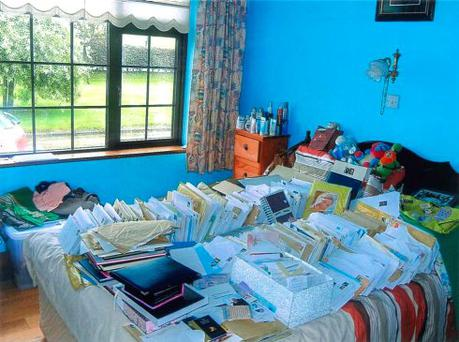 Karen Buckley's bedroom at her home in Cork, which is now covered in the letters sent by well-wishers after her death