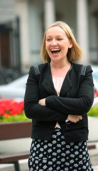 Lucinda Creighton at the launch of Renua's policy document at Leinster House yesterday. Photo: Damien Eagers