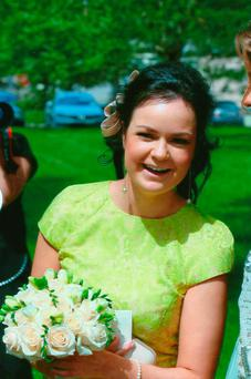 Karen Buckley at her brother Brendan's wedding