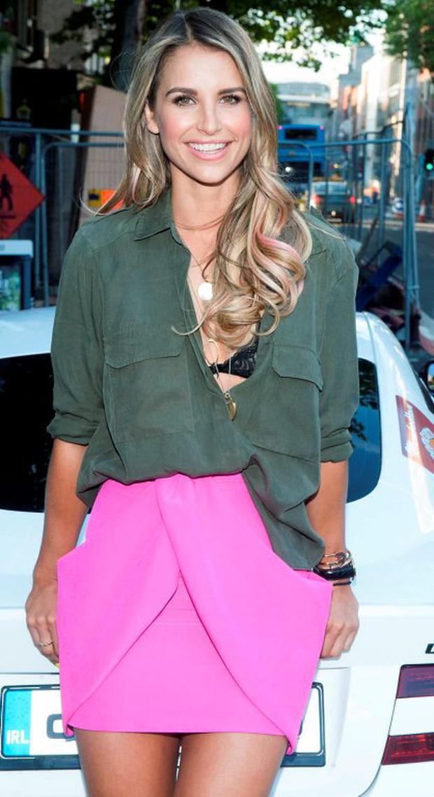 Vogue Williams looked racey at the launch party for Cannonball 2015 in aid of the Make A Wish Foundation which was held at the trendy 37 Cafe Bar in Dawson Street. Picture: Brian McEvoy