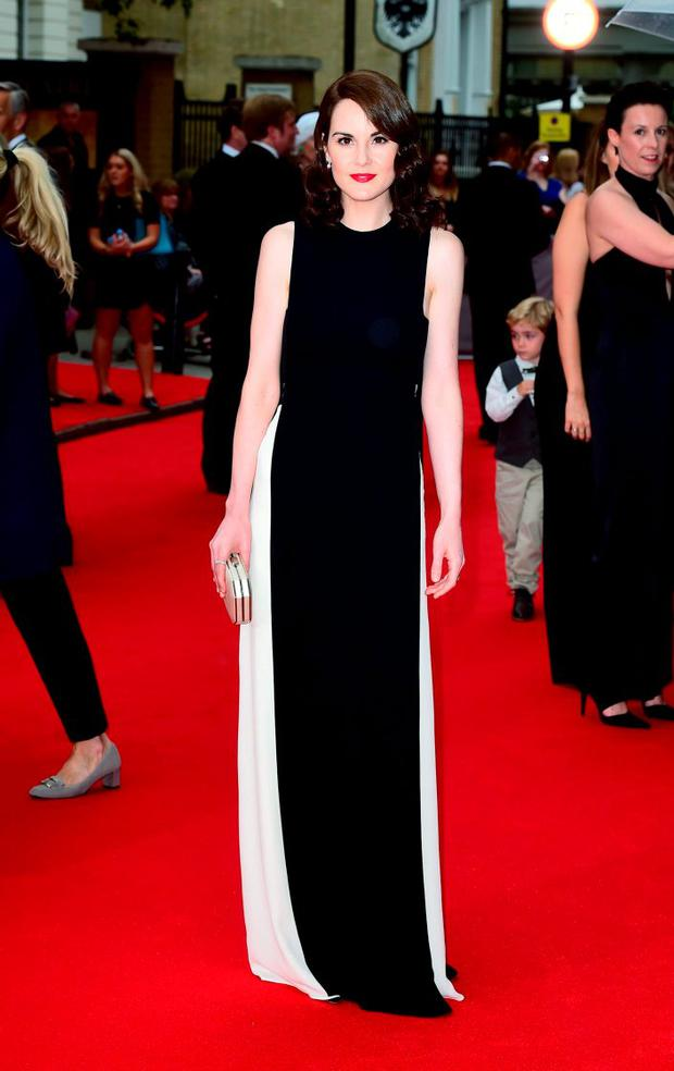Michelle Dockery attending a BAFTA tribute evening for Downton Abbey held at The Richmond Theatre, London