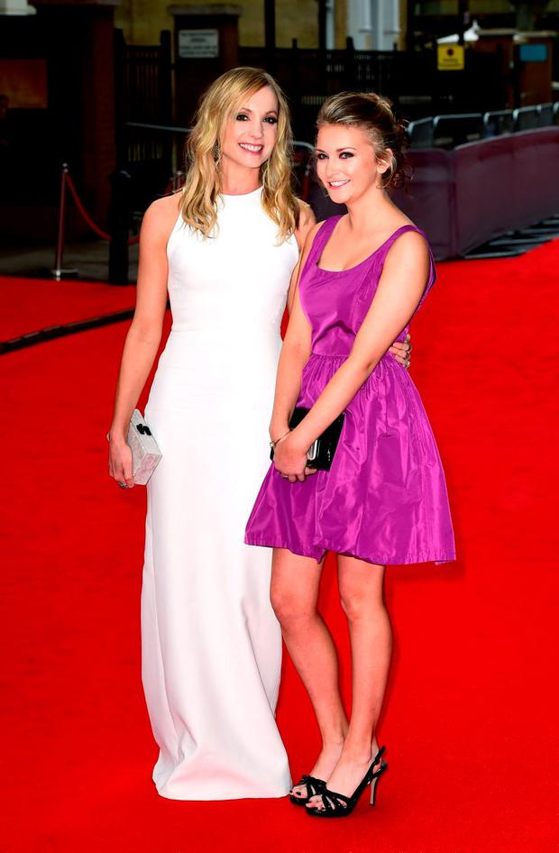 Joanne Froggatt and Alice Shuttleworth (right) attending a BAFTA tribute evening for Downton Abbey held at The Richmond Theatre, London