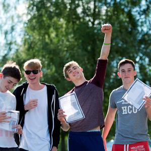 12/8/15 REPRO FREE Success all around for Cistercian College Leaving Cert students. The Roscrea College comes away with great results. Pictured are Paddy McKeon, Naas, Adam Flaherty, Nenagh, Martin Phelan, Laois and Cormac Phelan, Laois. Pic Sean Curtin Fusionshooters.