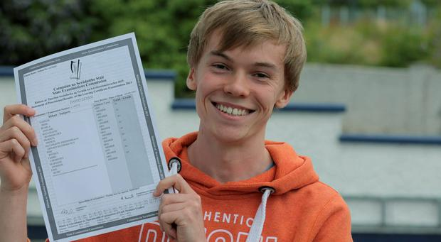 David Glynn who got 9 A1s in his leaving Cert in Castlebar, Co. Mayo. Photo : Keith Heneghan / Phocus