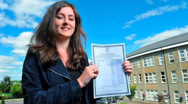 Kate Henry pictured after receiving 8 A1s in her Leaving Cert results in Mount Mercy, Cork. Pic Daragh Mc Sweeney/Provision