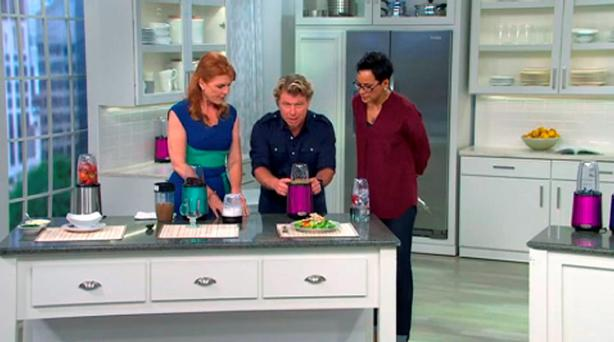 Sarah, Duchess of York (left) appearing presenters on the US shopping channel QVC