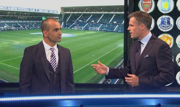 Roberto Martinez appeared on Monday Night Football alongside Jamie Carragher Last August