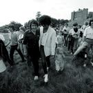 Phil Lynott of Thin Lizzy at Slane Castle, January 1981. (Photo by Denis O'Regan/Getty Images)