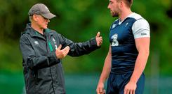 Although normally a No 8, Schmidt may deploy Conan on the blindside, with Sean O'Brien at the base of the scrum and Chris Henry expected to play at openside when he names his team at 1.50 today