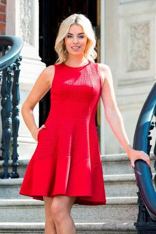Pippa O'Connor launches the Dublin Festival of Fashion at City Hall in the capital yesterday.